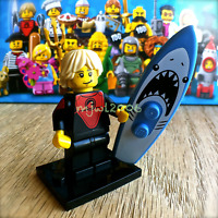LEGO 71018 Minifigures SERIES 17 Pro Surfer #1 Minifig SEALED shark surfboard