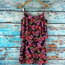 Forever 21 Juniors Dress Blue Red Pink Floral Size Small