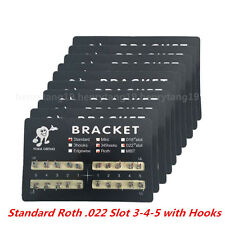 10Packs Dental Orthodontics Brackets Standard Roth .022 Slot 3-4-5 with Hooks