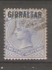 Gibraltar Sc unlisted SG 4a overprint blue  black  SIGNE FVF