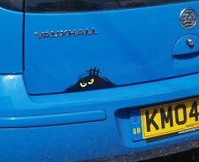 Car Sticker SCARY MONSTER PEEPER Funny Van Truck Bumper Window - Yellow Eyes
