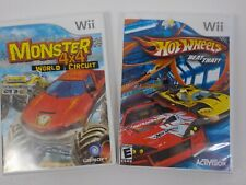 2 PK Wii GAMES MONSTER WORLD CIRCUIT JUST CD HOT WHEELS BEAT THAT MANUAL AND CD