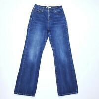 """Levis 512 Boot Cut Perfectly Slimming Womens 6 Blue Jeans 30"""" Inseam"""