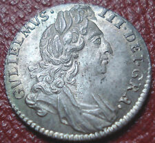 1696 WILLIAM III BRITISH SIXPENCE IN NICELY TONED UNCIRCULATED CONDITION (S3520)