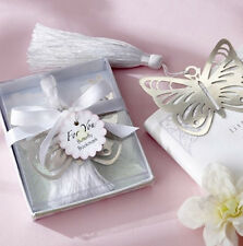 1Pcs Hot Sale Cheap Magnetic Silver-Metal Butterfly Bookmark Wedding Favors