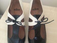 House of Fraser Kurt Geiger Black Patent&Cream Lthr Shoes Size 41 BNWT Paid £100