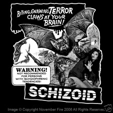Schizoid Lucio Fulci Horror Vampire Bats Campy Drive In B Movie Fun Shirt Nft142