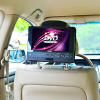 "Car Headrest Mount Holder - 10"" Swivel & Flip Style Portable DVD Player by TFY"