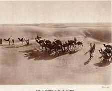 Sahara caravan in desert print image 1939