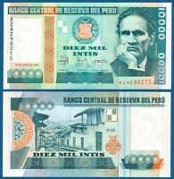 PERU 10.000 Intis 1988  UNC  P.140