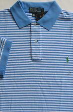 New $95 Polo Ralph Lauren Blue / White Striped Cotton Mesh Shirt / BIG 3X