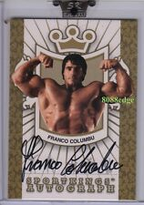 2008 SPORTKINGS AUTO GOLD #FC2: FRANCO COLUMBU/10 AUTOGRAPH MR OLYMPIA/UNIVERSE