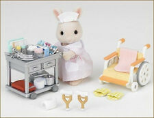 JP Sylvanian Families H-13 Nurse Set with Rabbit Mother Doll (Clinic Hospital)
