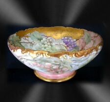 T & V Limoges LARGE vintage footed unique punchbowl
