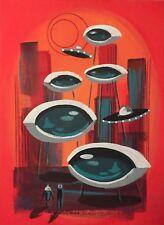 EL GATO GOMEZ RETRO FUTURISTIC OUTER SPACE ROCKET SCI-FI PULP 60'S MARS MARTIAN