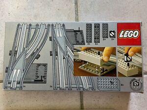 LEGO TRAIN 12V 7856 aiguillage électrique rails douce complet  COMME NEUF ! 1980