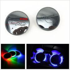2 Pcs Portable USB Charge 7-Color LED Car Off-Road Cup Bottle Holder Bottom Pad