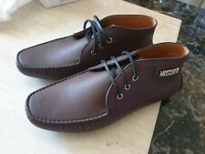 BNIB mens MOSCHINO LEATHER DESERT BOOTS shoes lace up size uk 9 eur 43 RRP £265