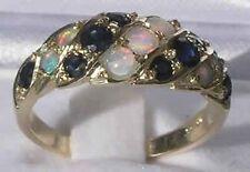 Echte Edelstein-Ringe aus Gelbgold mit Saphir für Damen
