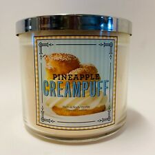 1 Bath & Body Works Pineapple Creampuff 3 Wick Large Scented Candle 14.5 oz