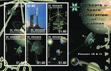 PIONEER 10/11 Deep Space Probe Spacecraft/50 Years Space Exploration Stamp Sheet