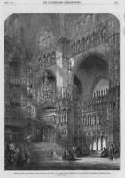 1864 FINE ART Antique Print - Chapel Cathedral Toledo Read Water Colours (139)