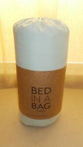 BED IN A BAG ULTRA SOFT HYPOALLERGENIC TWIN XL 6 PIECE BED SET AQUA NIB (268)