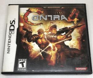 CONTRA 4 - 20th ANNIVERSARY - ULTRA RARE - NINTENDO DS GAME + CASE + MANUAL