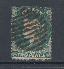 Ceylon SG 50by used 1864 2p Queen Victoria, watermark 5 Inverted & Reversed