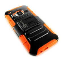 CoverON® For HTC One M9 Holster Case Kickstand Tough Cover - Neon Orange & Black