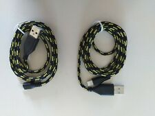 2 X 1 METRE USB  CHARGER CABLE LEAD FIT APPLE IPHONE 5 ONWARDS UK SELLER