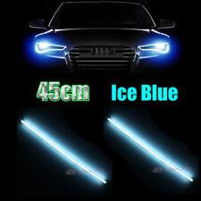 2x 45cm Ice Blue Flexible Tube LED Strips for Headlight Daytime Running Lights