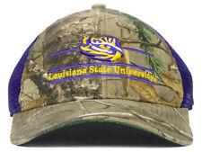 LSU Tigers The Game NCAA Hilljack Camo Trucker Purple Camo Snapback Cap Hat