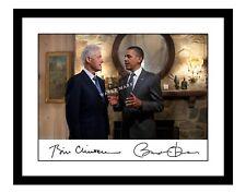 Barack Obama 11x14 Signed Photo Print Bill Clinton President Autographed