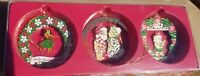 Hawaiian 3 Pack Collectible Metal Merry  Christmas Ornaments Mele Kalikimaka