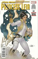 PRINCESS LEIA #1 DYNAMIC FORCES VARIANT SIGNED IN GOLD BY MARK WAID #7/30 COA