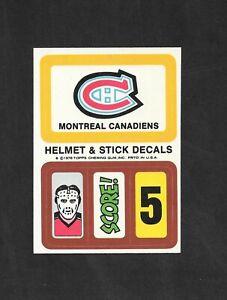 1978-79  TOPPS HOCKEY , HELMET & STICK DECALS , MONTREAL CANADIENS