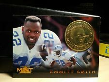 Emmitt Smith Cowboys 1996 Pinnacle Mint Collection Commemorative Coin Card #15