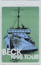 BECK 1998 MUTATIONS TOUR LAMINATED BACKSTAGE PASS