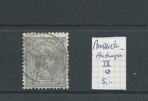 """KLEINrond """"AMSTERDAM-ANTWERPEN-IX 1895"""" op 38  VFU/gebr  CV 5 €"""