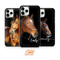 Horse Personalised Initial phone case for iPhone 11 PRO iphone XR, XS Max 8+ W24