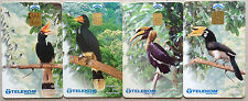 Malaysia Used Phone Card : 4 pcs Hornbill