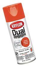 Krylon K08815007 'Dual' Superbond Paint and Primer, Gloss Mandarin, 12 Ounce