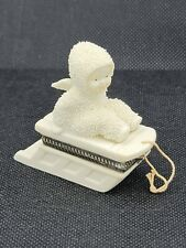 Dept 56 SNOWBABIES SLED HOLD ON TIGHT Hinged Box Trinket Jewelry