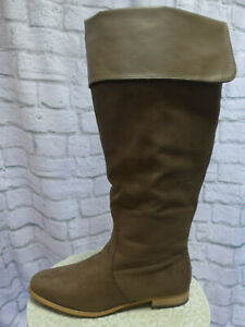 Sheego Boots Wide Calf Boots Size 38 To 43 Braun New (456)
