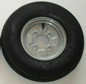 """NEW 4.00 8 Wheel and Tyre 4"""" PCD, Boat / Camping Trailer Wheel"""