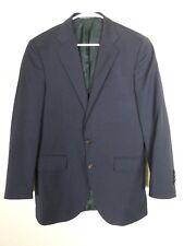 Polo Ralph Lauren Mens Two Piece Suit Size 40 (Pants 33.5x28.5) Blue Pinstripe