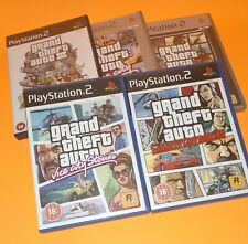 Grand Theft Auto Bundle All 5 Games PS2 Playstation 2 GTA Vice City San Andreas