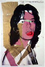 Andy Warhol - Original offset Litho Mick Jagger- Rolling Stones