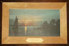 Postcard Antique Art - Marine Scene by Unker - Painting Frame Look - Sent 1908